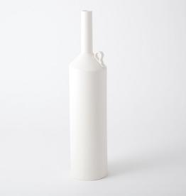"XLarge Matte White Metro Bottle H 27"" D 6.5"""