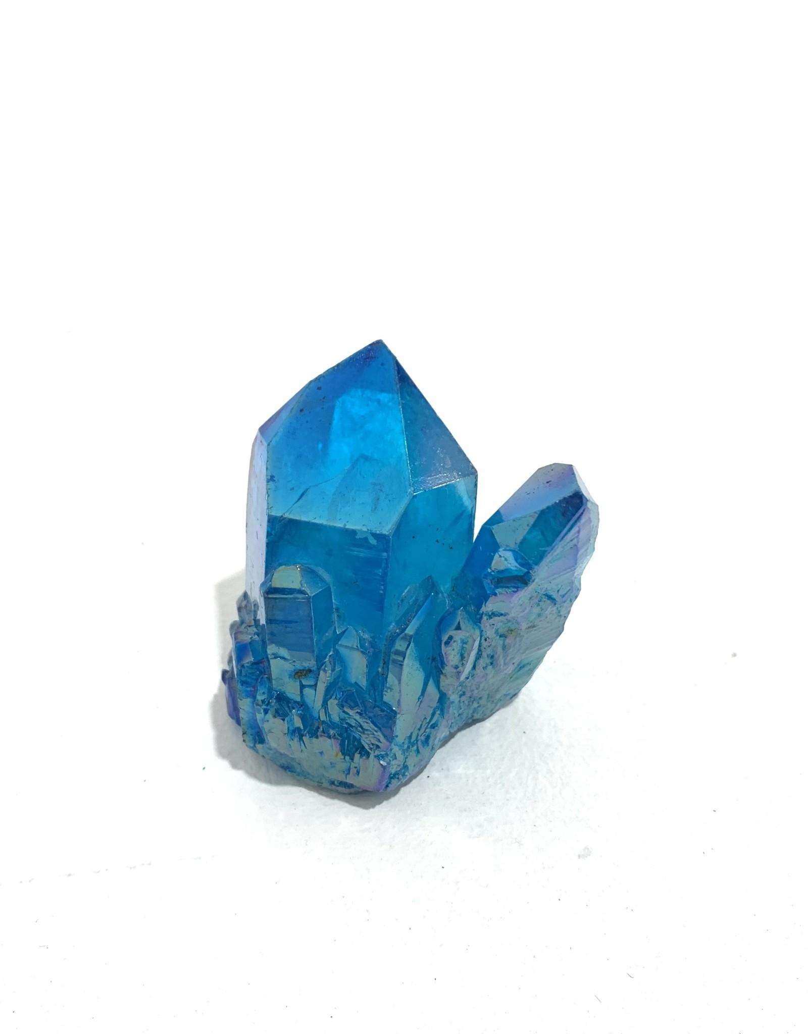 "Small Blue Aura Quartz Point W1.5"""