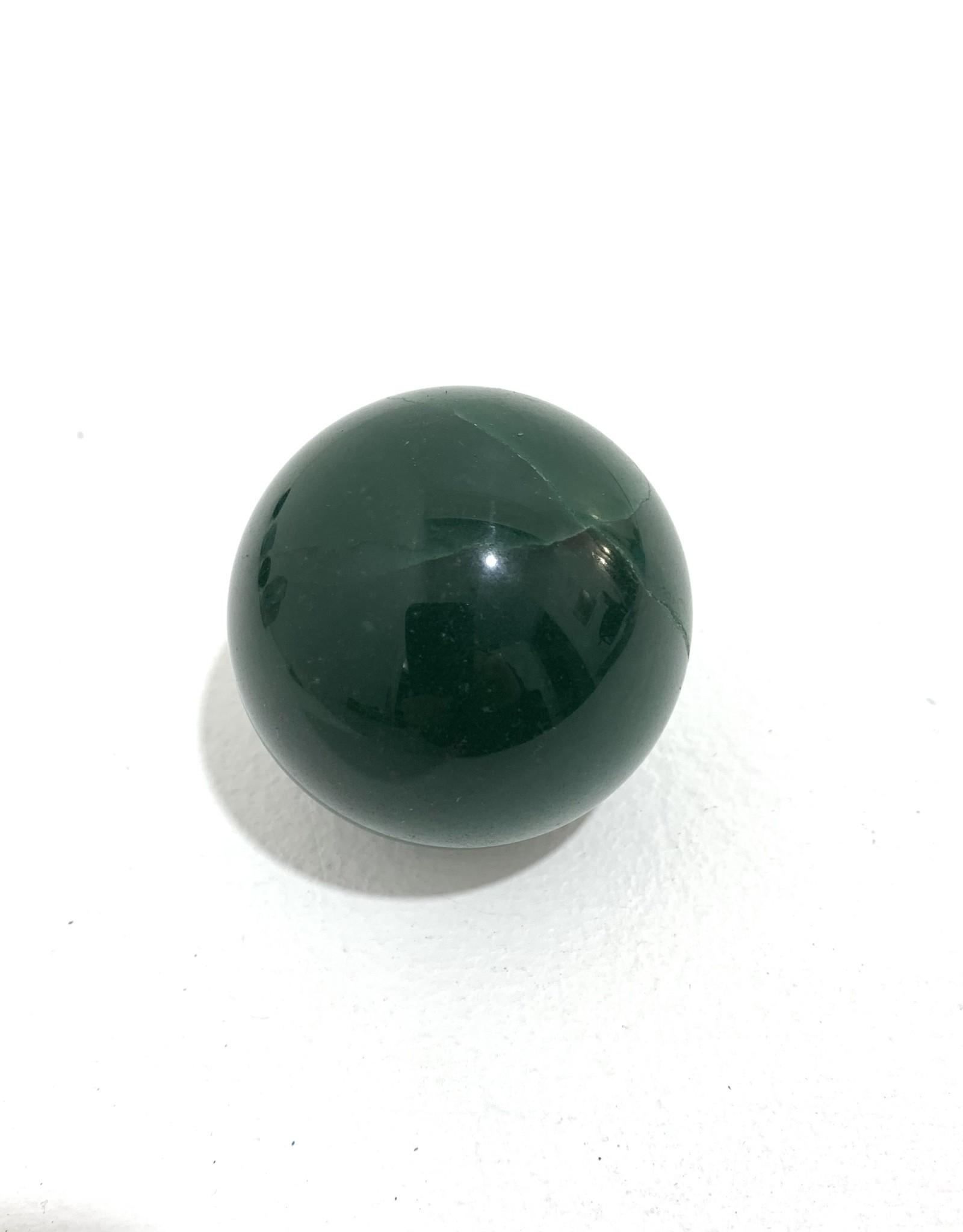 "Large Green Adventurine Sphere D2.5-3"""