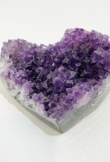 Large Heart Amethyst Cluster