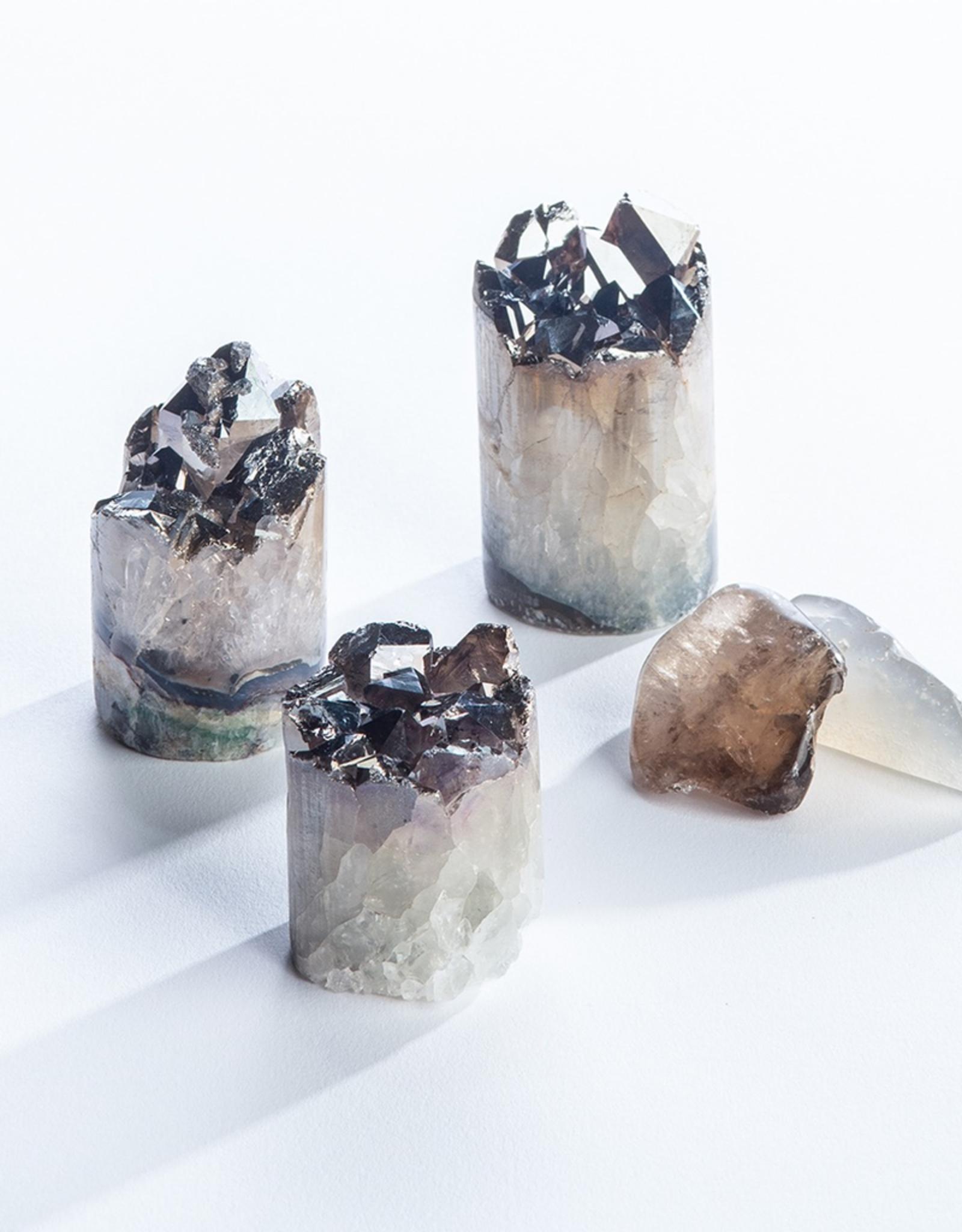 Amethyst with Gunmetal Plating Crystal Cupcake