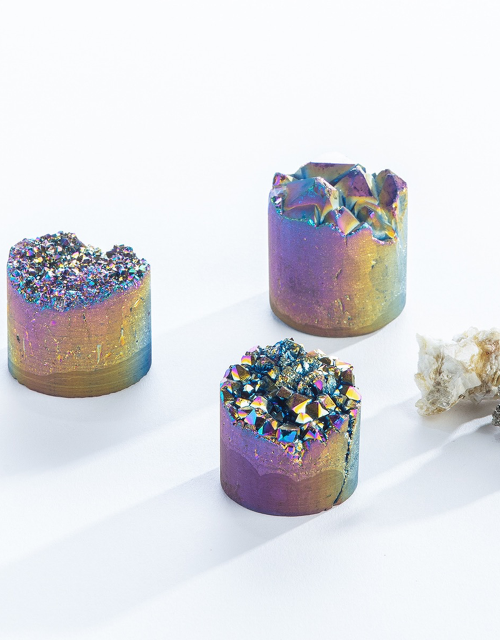 Frosted Rainbow Crystal Cupcake