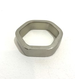 Silver Ring Hexagon Display Stand