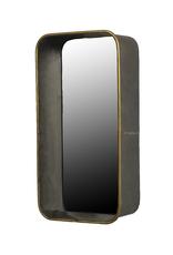 Rectangular Archer Galvanized Mirror / Shelf - Reg $139 Now $50
