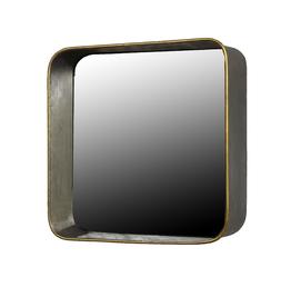 Square Archer Galvanized Mirror / Shelf - Reg $179 Now $70