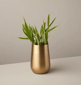 "Medium Gold Sloped Vase 6.375""H"