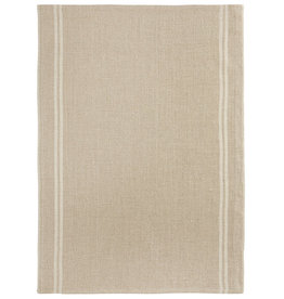 Country Natural with White Stripe Washed Linen Tea Towel