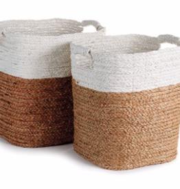 Small Natural & White Madura Basket
