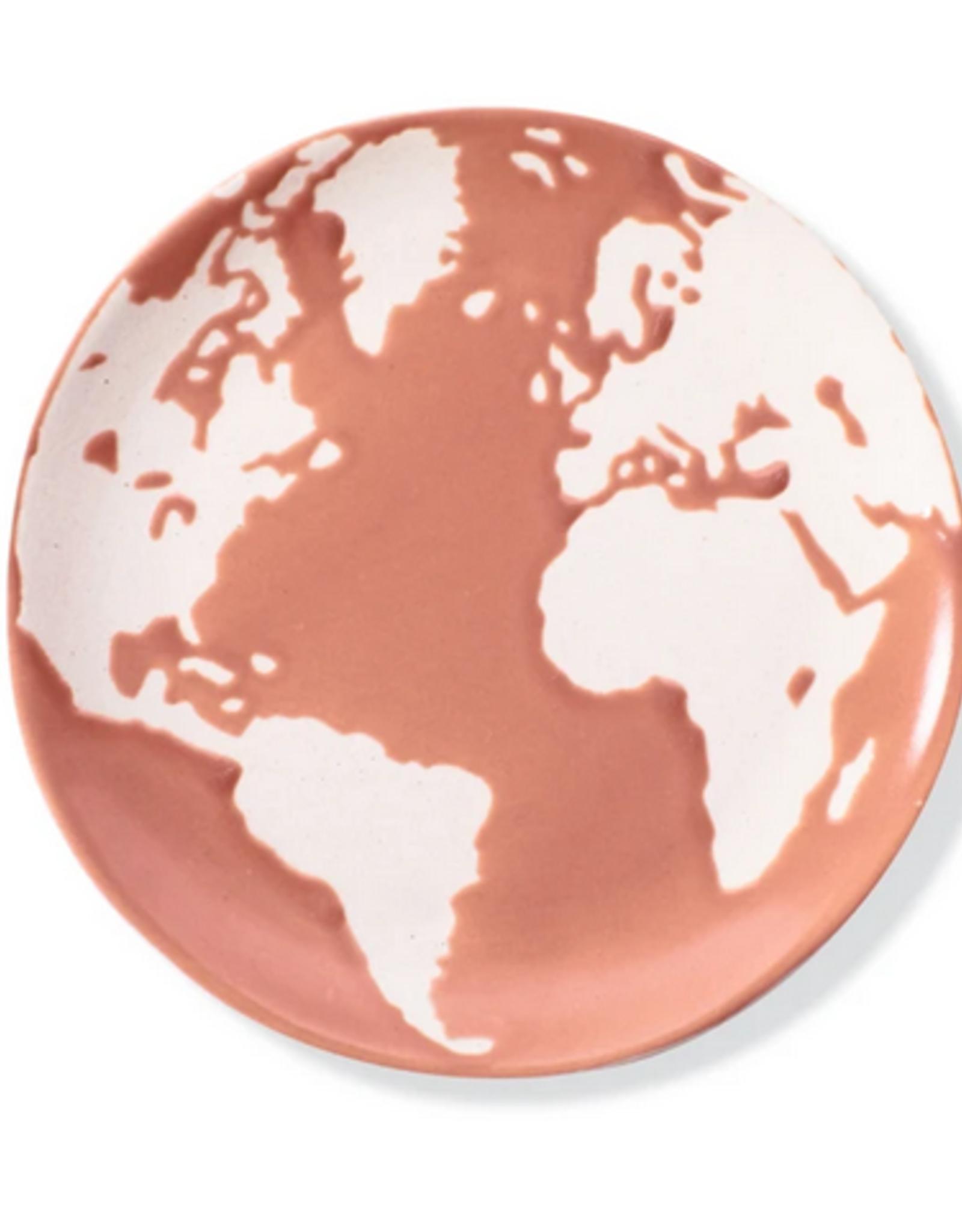 "Planet Earth Medium Stoneware Tray 5""D"