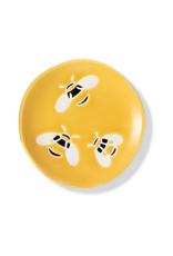 """Bees Mini Stoneware Tray  2.375""""D"""