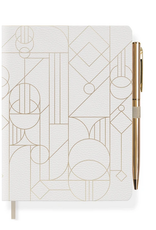 """Deco Shapes Journal with Pen 4.5"""" x 6.5"""""""