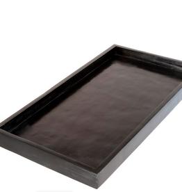 "Large Rectangular Black Stone Tray 15""L x 8""W x 1""H"