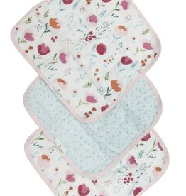 Washcloth 3 Piece Set - Rosey Bloom