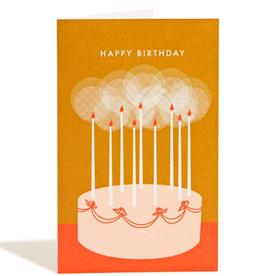 Birthday Cake Card (Orange)