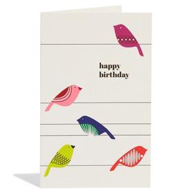 Birthday Canaries Card