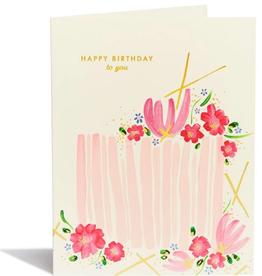 ES Birthday Cake Card (White)