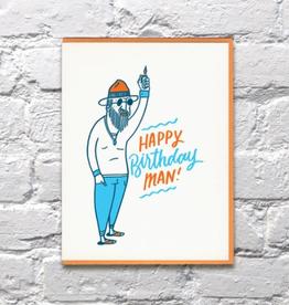 Happy Birthday Man Card