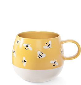 Bees Round Stoneware Mug 14oz.