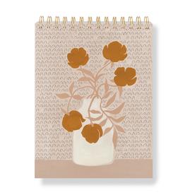 """Floral Hardcover Spiral Sketchbook 9.875"""" x 7.25"""""""