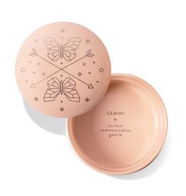 "Gemini Sparkling Ceramic Trinket Box 3.375"" x 2"""
