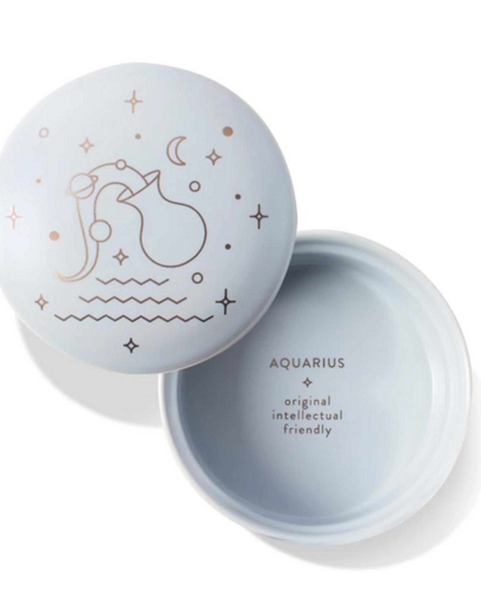 """Aquarius Sparkling Ceramic Trinket Box 3.375"""" x 2"""""""