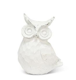 "Medium Resin Sitting Snowy Owl 6"""