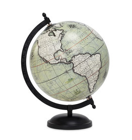 """Green and Black Globe on Stand 8""""D"""