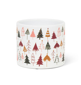 """Small Wintery Trees Planter 4.5""""D"""