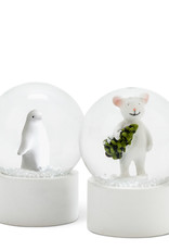 """Small Critter Snow Globe 2"""" 2 Assorted"""