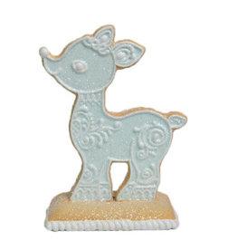 Blue Reindeer Cookie