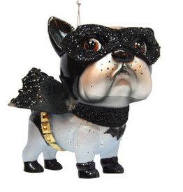 Glass Superhero Bat Dog Ornament