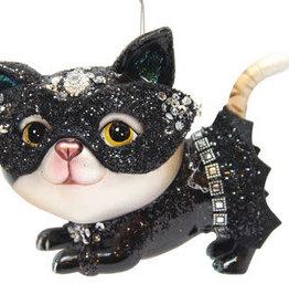 Glass Superhero Cat Ornament