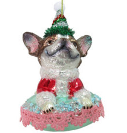 Chihuahua on Bed Ornament