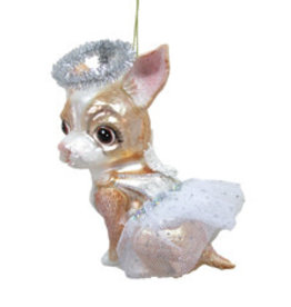 Chihuahua Angel Ornament