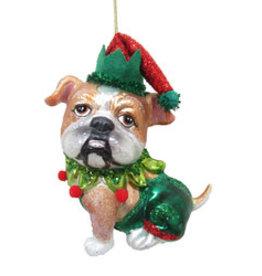 Bulldog Jester Ornament