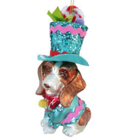 Beagle Dressed in Brights Ornament