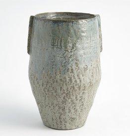 Pinch Pot Vase, Reactive Seafoam, Large