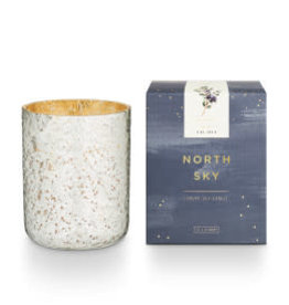 North Sky Small Luxe Sanded Mercury Glass Candle