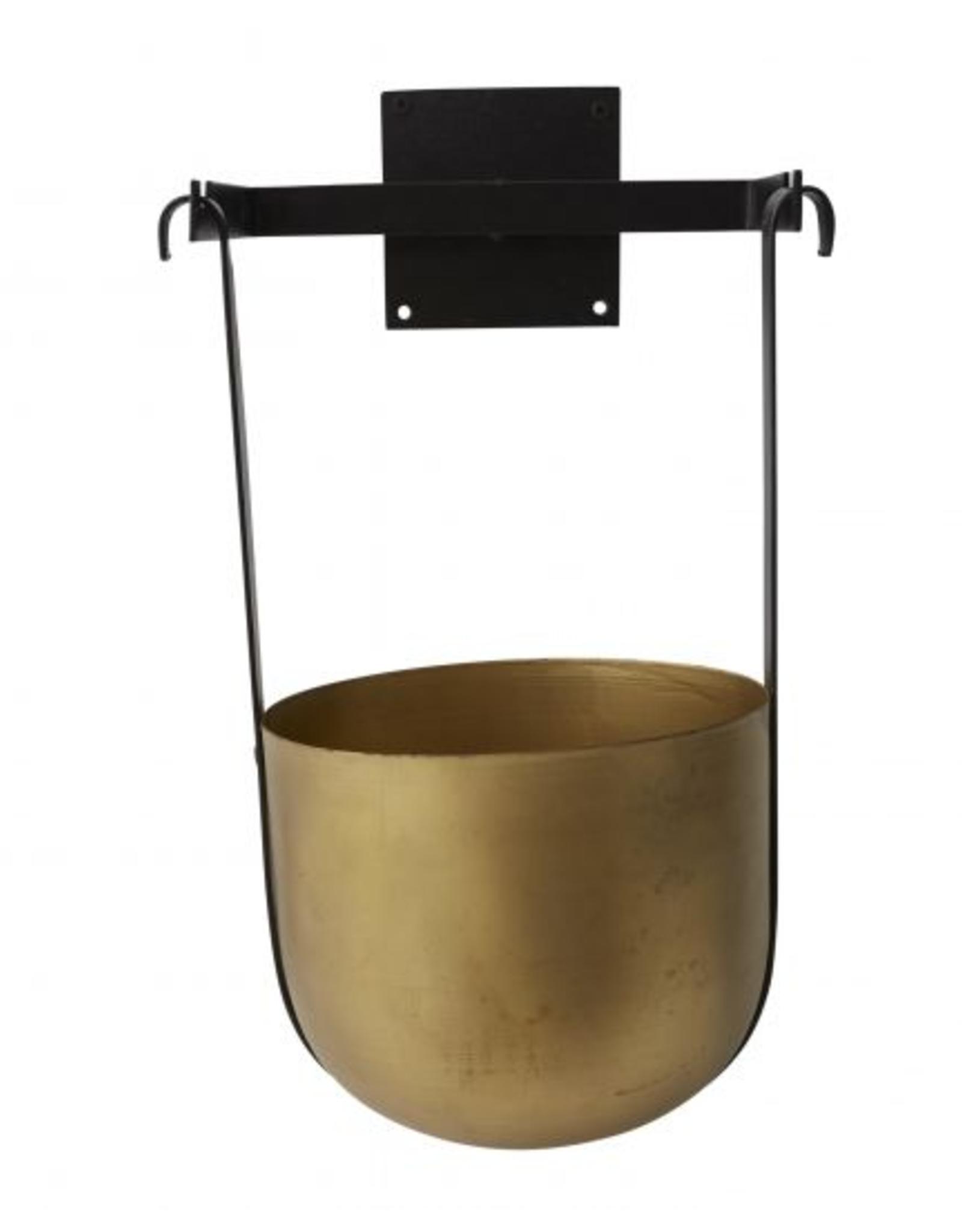 "Large Benton Hanging Pot W12.25"" D10"" H17.5"""