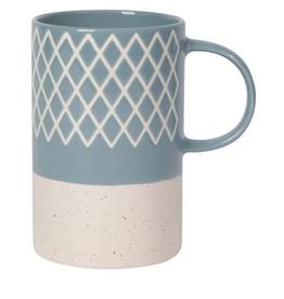Slate Blue Etched Mug
