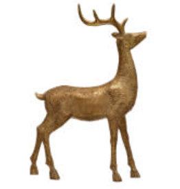 "Gold Resin Standing Deer H12.5"""