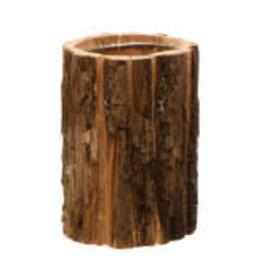 "Basswood Bark Planter D5"" H6.5"""