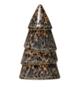 """Small Green Speckled Stoneware Tree D3"""" H5"""""""