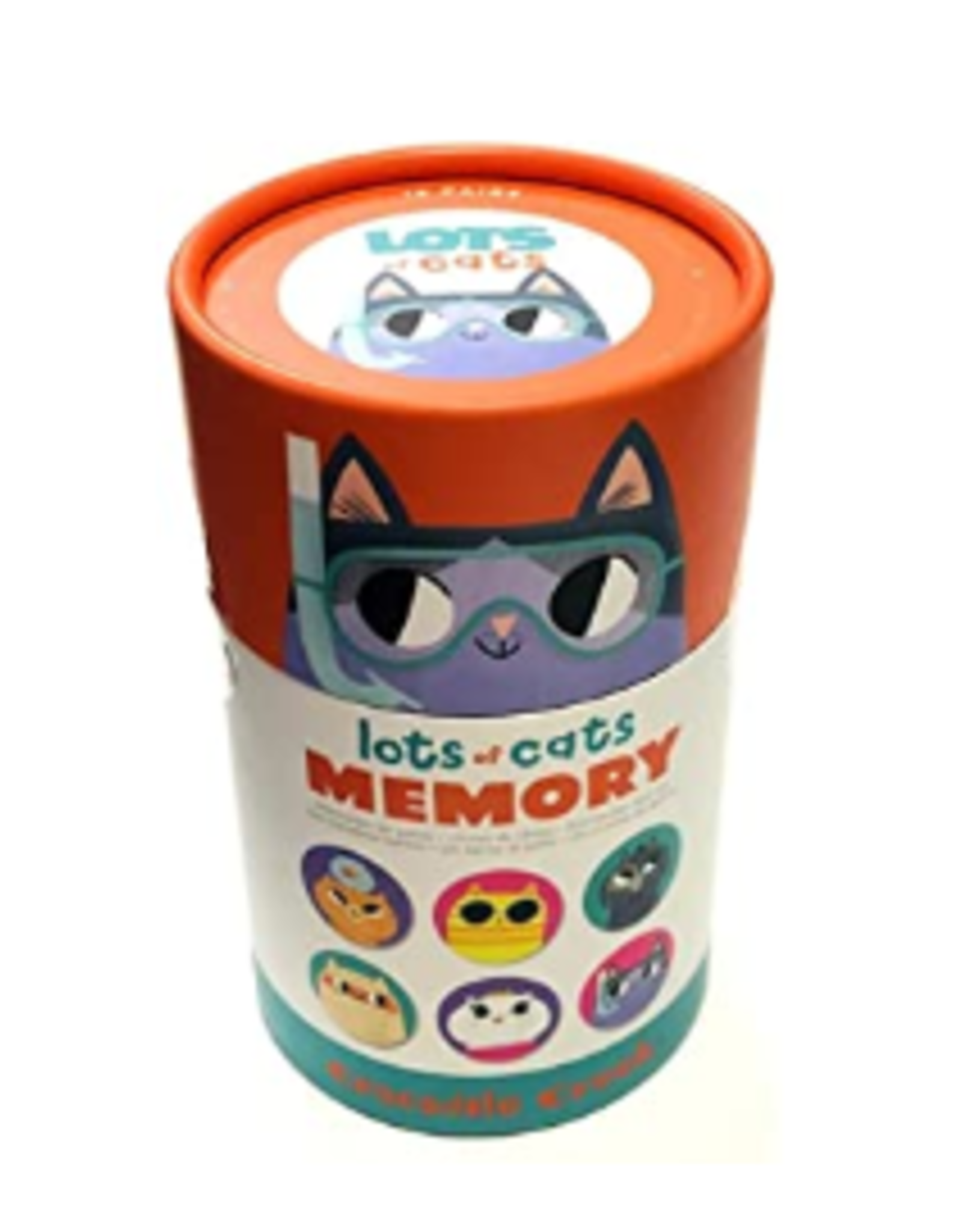 Lots of Cats Canister Memory Game