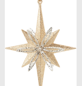 "Acrylic Star Ornament 2 Layer H5"""