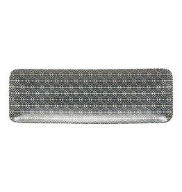 "Augusta Diamond Weave Rectangular Tray W14"" L5"""