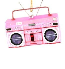 Pink Boombox Ornament