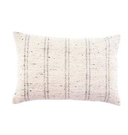 """Grey Luca Slub Pillow L16"""" W24"""""""