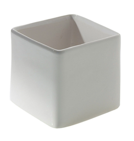 "White Urban Square Pot H4.75"""