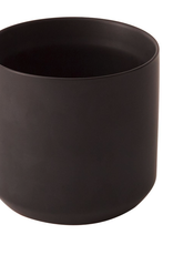 "Black Kendall Pot D4.75"" H4.5"""